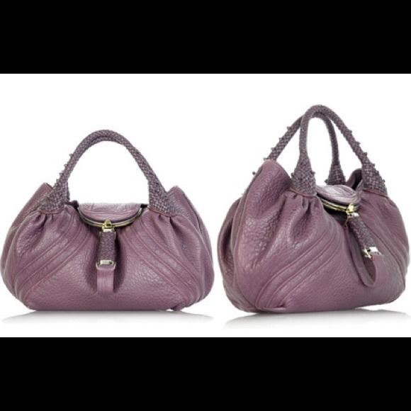 c293176caaa4 Fendi Handbags - Fendi purple rare authentic nappa leather spybag